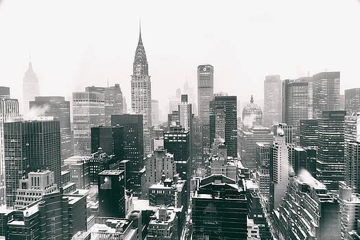 New York City - Snow-Covered Skyline by Vivienne Gucwa