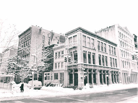New York City - Snow in Soho by Vivienne Gucwa