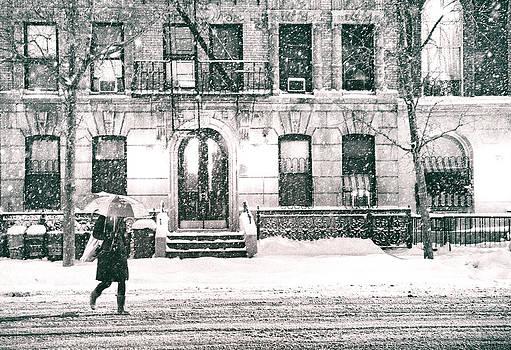 New York City - Snowy Night in Midtown by Vivienne Gucwa