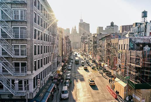 New York City - Sunset Above Chinatown by Vivienne Gucwa