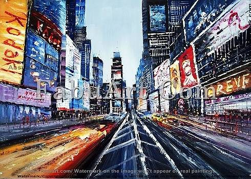 New York Cityscape Painting Textured by FabuArt