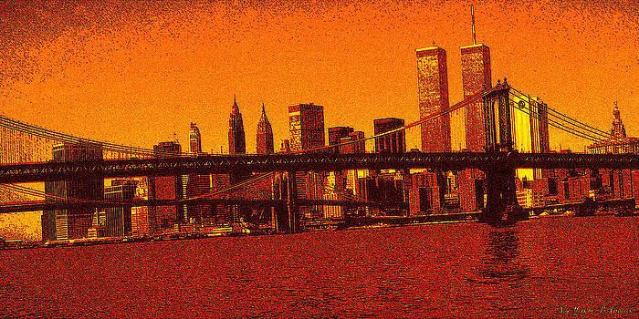 Peter Potter - New York Downtown Manhattan Skyline Red