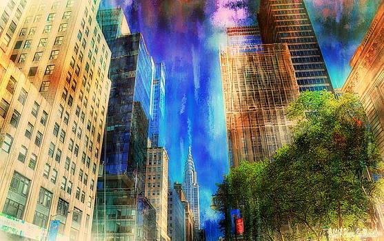 New York New York 42nd Street Abstract by Michelle Gross