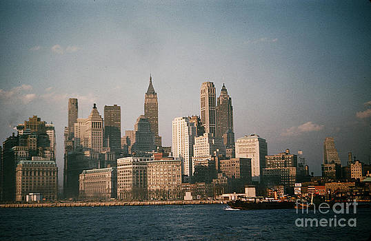 California Views Mr Pat Hathaway Archives - New York skyline as seen from the Circle Line Ferry Manhattan New York circa 1960