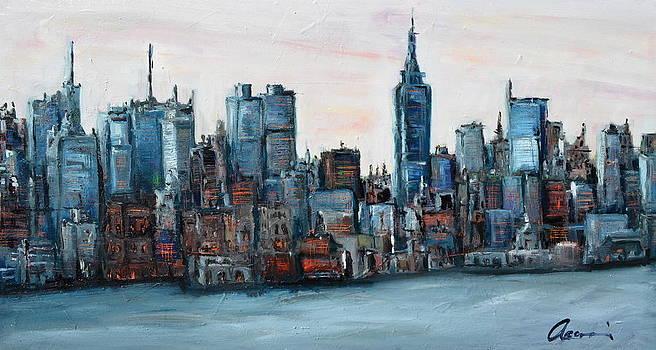 New York Skyline by Michael  Accorsi