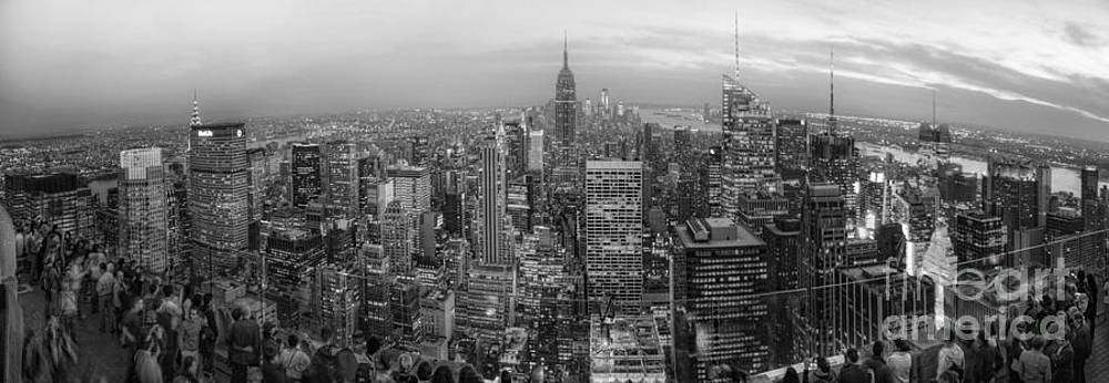 Yhun Suarez - New York Skyline Panorama BW