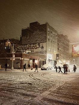 New York - Snow on a City Street by Vivienne Gucwa