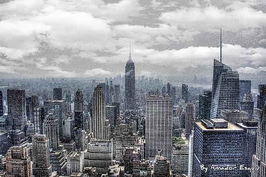 New York - Snowing at Xmas by Amador Esquiu Marques