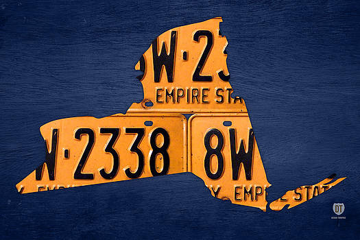 Design Turnpike - New York State License Plate Map