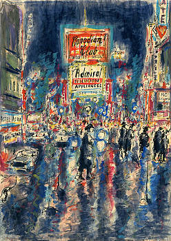 Peter Potter - New York Times Square - Watercolor