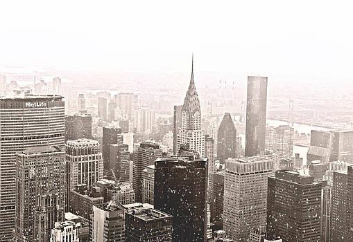 New York Winter - Skyline in the Snow by Vivienne Gucwa