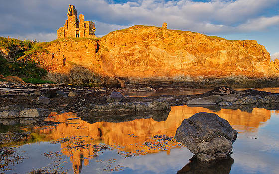 David Ross - Newark Castle sunset Fife