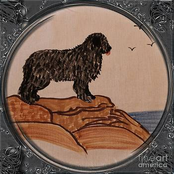 Barbara Griffin - Newfoundland Dog - Porthole Vignette