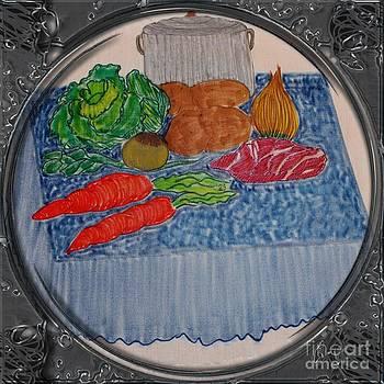 Barbara Griffin - Newfoundland Jiggs Dinner - Porthole Vignette