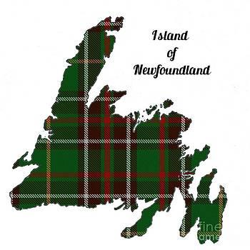 Barbara Griffin - Newfoundland Map With Tartan Inset