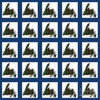 Barbara Griffin - Newfoundland Tartan Map Blocks Blue Trim