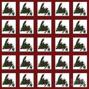 Barbara Griffin - Newfoundland Tartan Map Blocks Red Trim