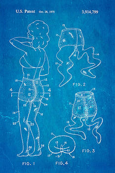 Ian Monk - Newmar Pantyhose Patent Art 2 1975 Blueprint
