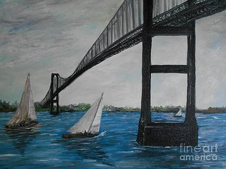 Newport Bridge  by Rhonda Lee