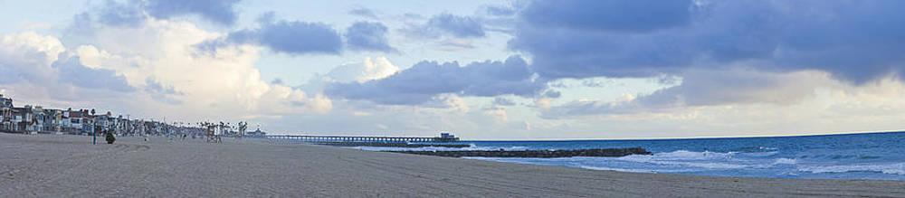 Newport Pier Panorama by Harold Vaagan
