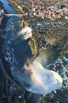 Niagara Falls from a helicopter by Pamela Lecavalier