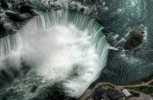 Niagara Falls From Above by Al Perry