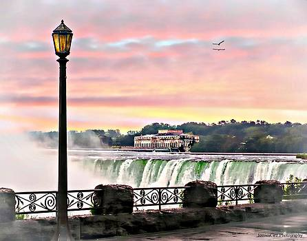 Niagara Falls Misty Sunrise by Jessica Cirz