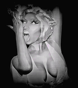 Nicki Minaj Black White Detailed by Anibal Diaz