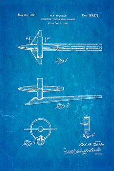 Ian Monk - Nickles 51 Buick Hood Ornament Patent Art 1951 Blueprint