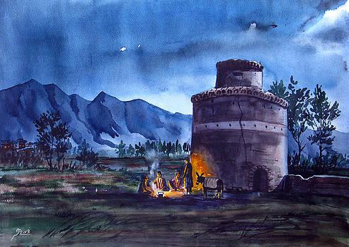Night and Fire by Reza Daliloltejari