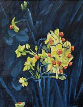 Night And Flowers by Vera Lysenko