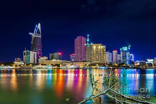 Fototrav Print - Night city skylike saigon vietnam