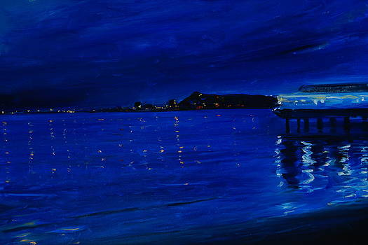 Night in the Beach by Sefedin Stafa