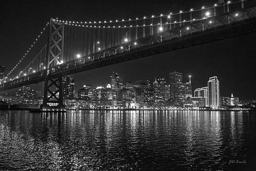 Night Lights at the Bay Bridge by Julie Basile