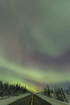 Tim Grams - Night Lights over the Alaska Highway