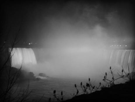 Kathy Peltomaa Lewis - Night Mist-Niagara Falls