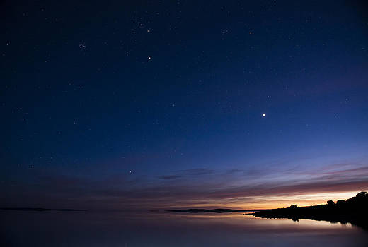 Night over the lake by Joe Wigdahl