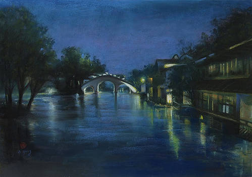 Night Scene of Wu Town by Nancy Yang