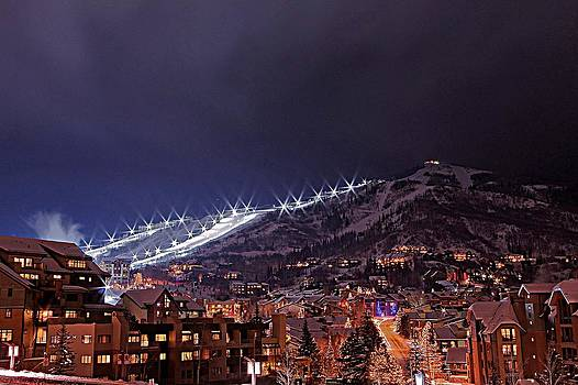 Night Ski Area by Matt Helm