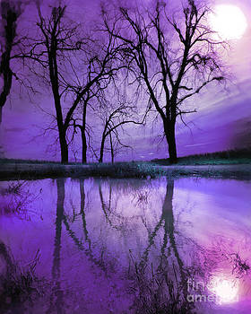 Night sky in purple by Gina Signore