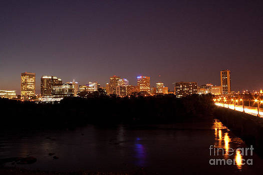 Night Skyline - 2 by John Hassler