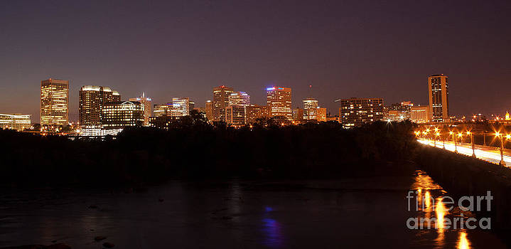 Night Skyline - 3 by John Hassler