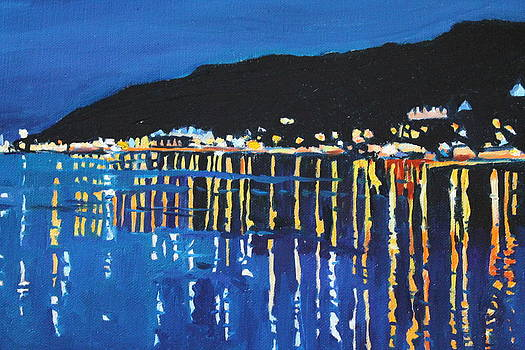 Night time in Mumbles by Emma Cownie