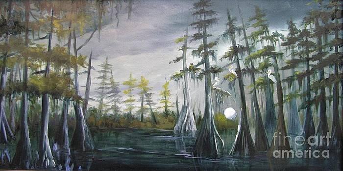 Night Time in the Bayou by Barbara Haviland