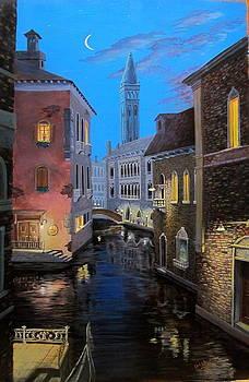 Night Time in Venice by Greg Neubert