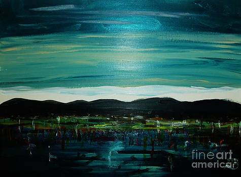 Night Time Shore Line by Marie Bulger