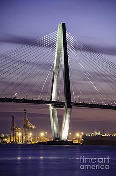 Dale Powell - Night Time View of Arthur Ravenel Bridge