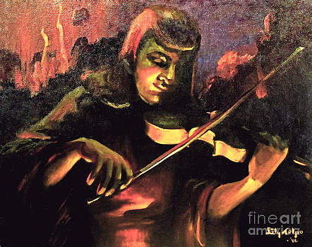 Art By Tolpo Collection - Nightclub Violinist - 1940s