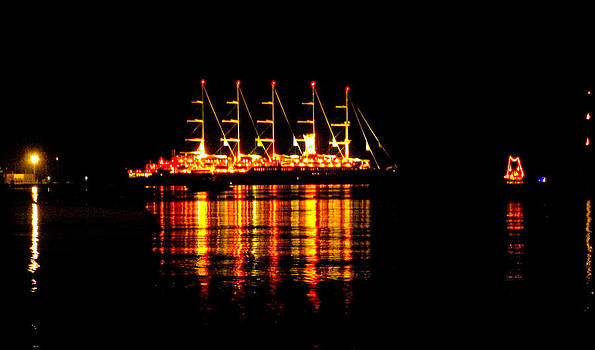Nightlife on the Water by Zafer Gurel