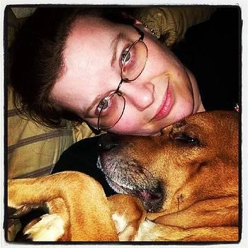 Nighttime #furbaby Cuddles #dog by Anne Simon